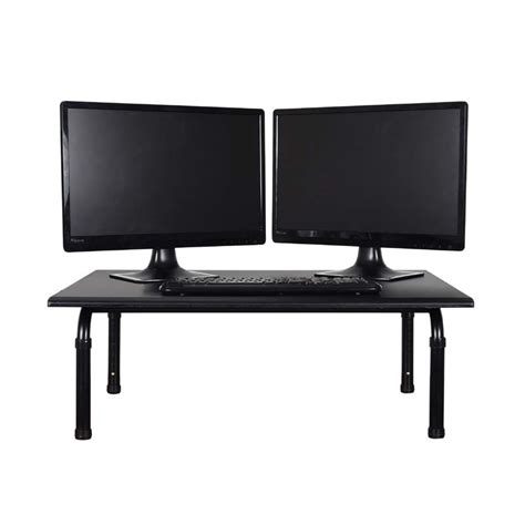 standing desk back luxor 32 inch wide desktop standing desk black stand sd32