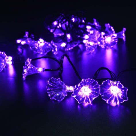 home decor led lights fairy flower solar string lights 16 feets led light