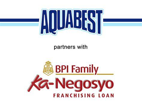 bpi family savings bank housing loan aquabest renews partnership with bpi family ka negosyo