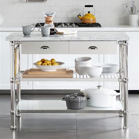 modular kitchen island modular kitchen island polished nickel williams sonoma