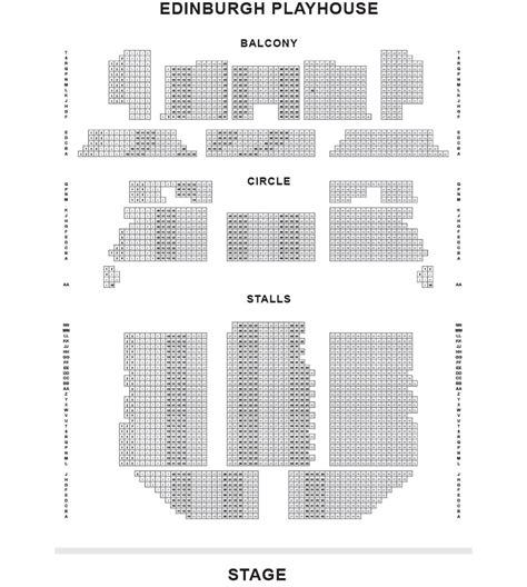 Floor Plan Castle by Edinburgh Playhouse Seating Plan