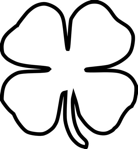 Shamrock Outline Clipart by Four Leaf Clover Cliparts Co