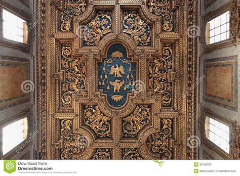 baroque ceiling san crisogono ceiling stock image image of religion