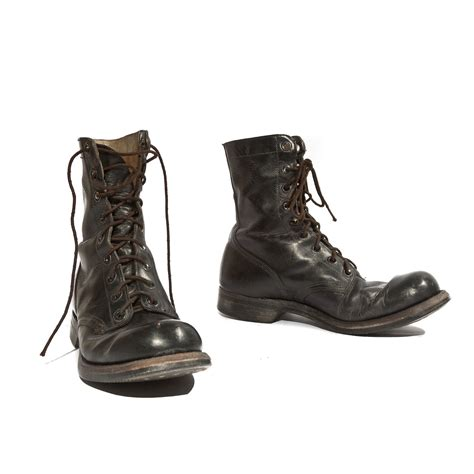 1966 vintage combat boots by endicott johnson by nashdrygoods