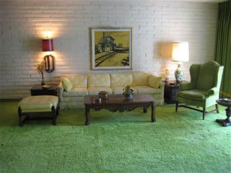 Yellow Walls Green Carpet Here Is A View Of The Atrium From The Living Room The
