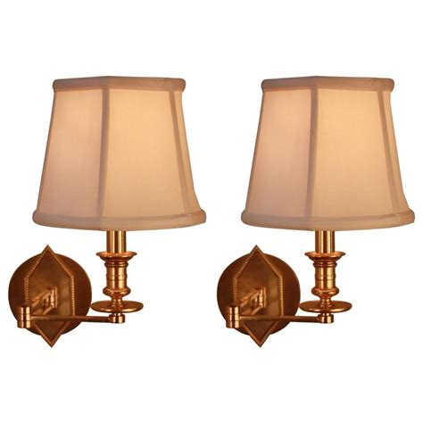 bronze swing arm wall l pair of french bronze swing arm wall sconces at 1stdibs