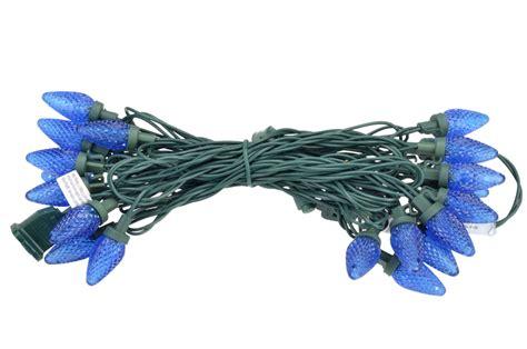 25 outdoor blue led c7 strawberry string lights 16 6ft