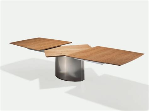 small extendable dining table dining table for small spaces extendable adler by draenert