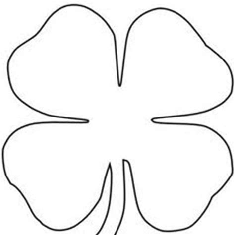 Coloring Page 4 Leaf Clover by Four Leaf Clover Sheats Coloring Page Color