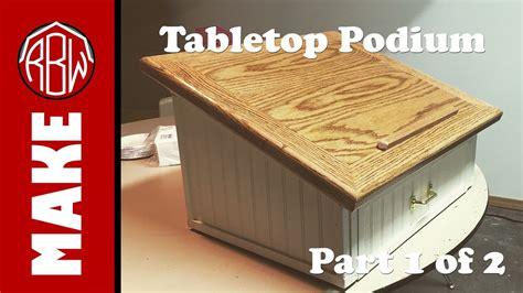 tabletop podium    youtube
