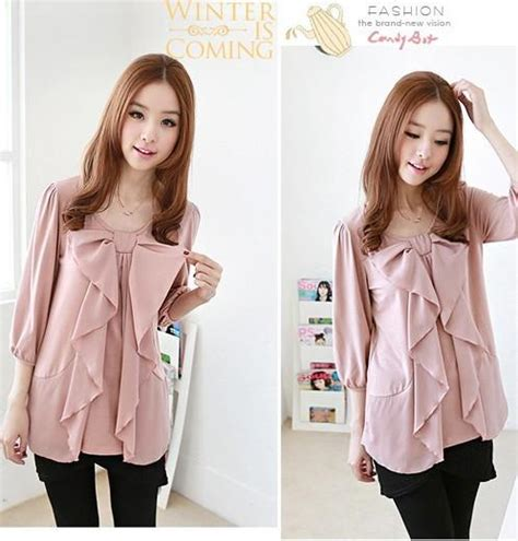 17 Blouse Pink Blouse Wanita Pink Putih 97b5 5477 big ribbon design bl end 7 1 2018 12 00 am