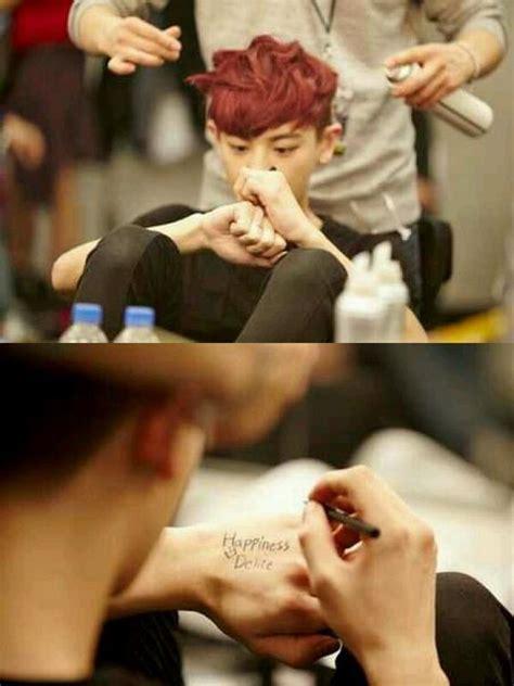 tattoo chanyeol chanyeol and his new tattoo exo exo pinterest