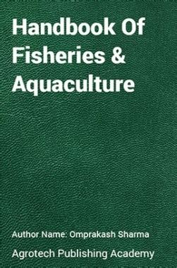 Ebook Fishery 3 handbook of fisheries and aquaculture by o p