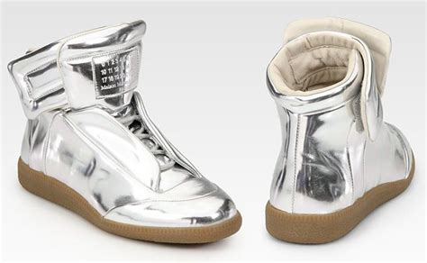 maison margiela mirror sneakers maison martin margiela metallic gold leather mirror