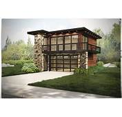 Garage W/Apartments With 2 Car 1 Bedrm 615 Sq Ft  Plan