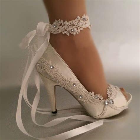 dress shoes pumps open toe lace wedding shoes peep