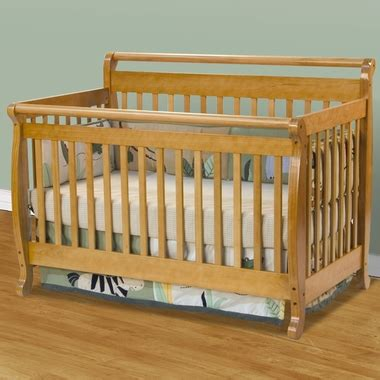Oak Sleigh Crib by Emily 4 In 1 Convertible Sleigh Crib In Honey Oak M4791o