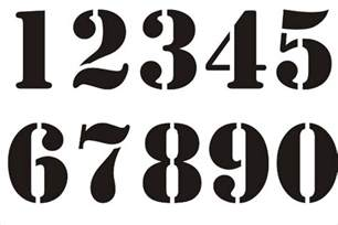 Numbers Templates Free by 9 Number Stencils Free Sle Exle Format