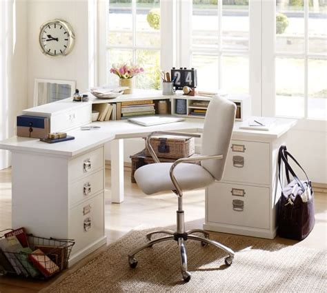 Ballard Design Desk bedford corner desk antique white pottery barn