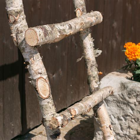 Garten Deko Leiter by Deko Pflanz Blumen Holz Leiter Birke Deko Garten