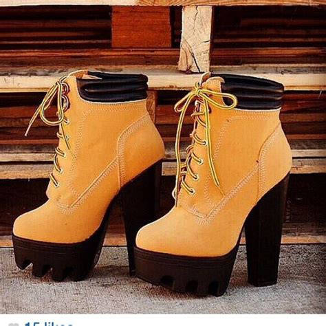 timberlands high heel boots the best high heels timberland wheretoget