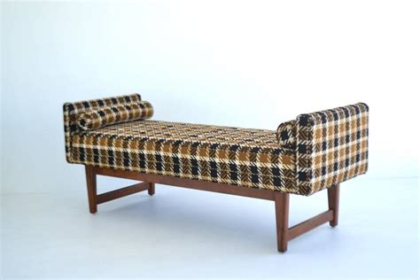 mid century upholstered bench mid century upholstered bench by selig for sale at 1stdibs