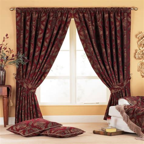 tapestry curtains sale stunning red gold tapestry chenille curtains all