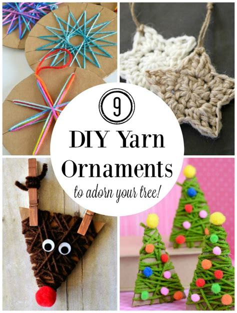 diy ornaments yarn 9 diy yarn ornaments to adorn your tree make and takes