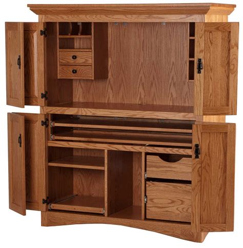 wood computer armoire solid wood computer hutch office furniture