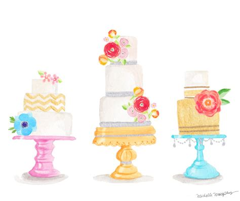 Decorating Home For Wedding by Watercolor Cake Stationery Mospens Studio
