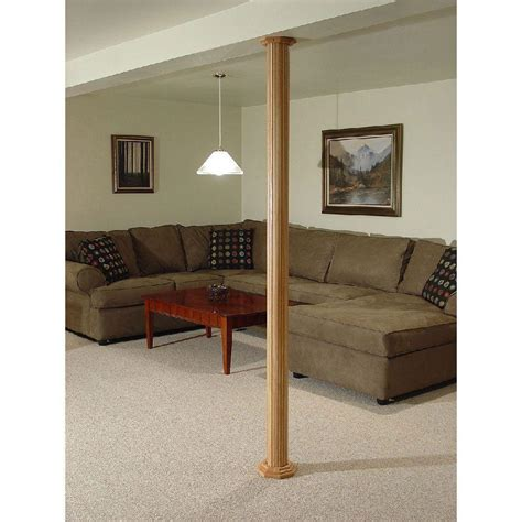 pole covers basement rooms