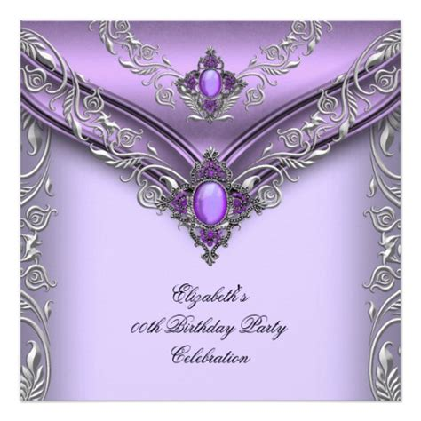 purple and silver reserved cards template purple lilac silver birthday card zazzle