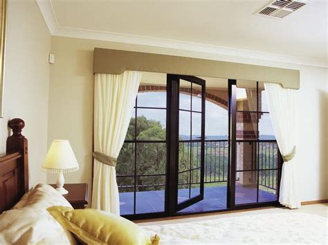 Door Windows Big Picture Window Curtains Ideas For