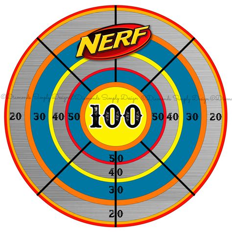 free printable nerf targets nerf target clipart 28