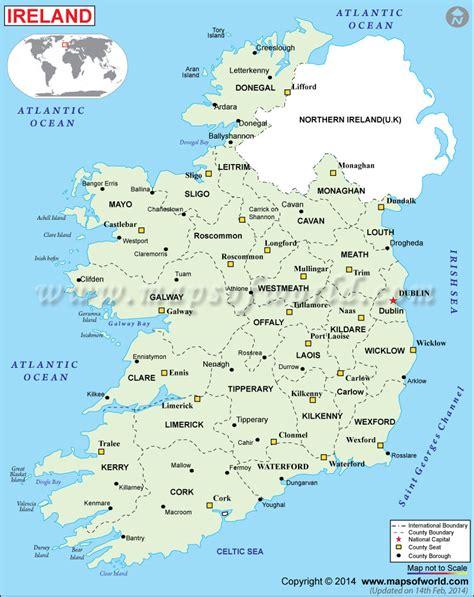 ireland county map political map of ireland ireland counties map
