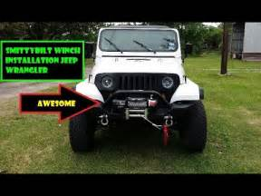 How To Install A Winch On A Jeep Wrangler Smittybilt Xrc Winch Install Jeep Wrangler Yj