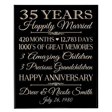 35th Wedding Anniversary by 35th Wedding Anniversary Gift For Husband Mini Bridal