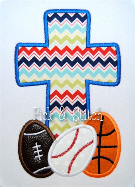 sports easter eggs easter egg sports cross applique design machine by