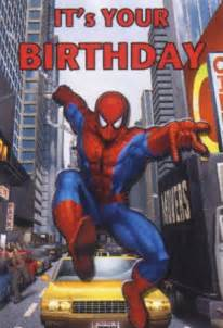 birthday card colorful and interesting design spiderman