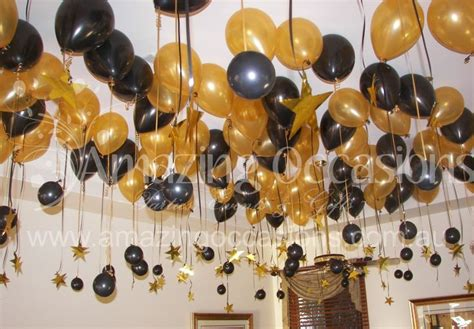 Black And Gold Birthday Decorations by Black And Gold Centerpieces 60th Birthday Balloons