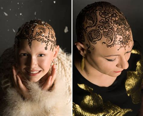 temporary hair tattoos henna crowns help cancer patients cope with
