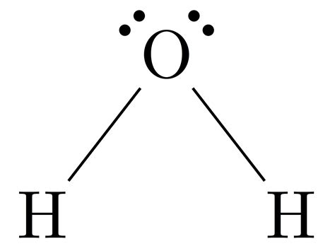 h2o dot diagram image gallery h2o lewis structure
