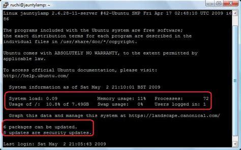 configure ubuntu server static ip step by step ubuntu 9 04 jaunty lamp server setup