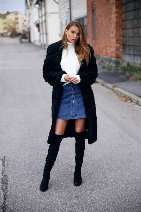 how to wear the knee boots in fall just the design