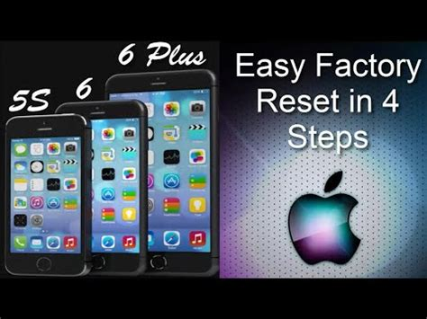 factory reset software iphone 4 iphone 6 how to hard reset reboot no itunes lost