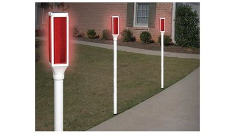light up driveway markers solar driveway markers keep you from driving into your