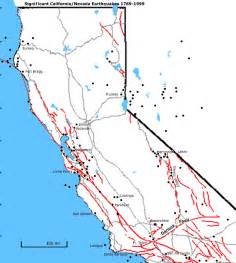northern california fault lines map fault zones northern california