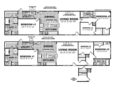 18 wide mobile home floor plans legacy housing single wide modular manufactured mobile homes