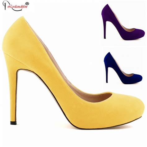 Sneaker Wedges Yellow Trendy Elegan fashion luxury designer shoes high heel brand yellow prom heels wedding dress shoe plus