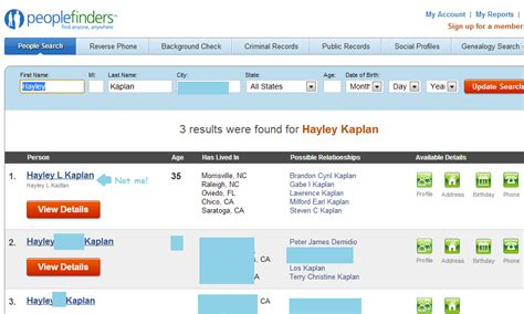 Peoplefinders Search Results Remove Your Information From Peoplefinders What Is Privacy